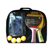 ALLIANCE 4 PLAYER ECLIPSE TABLE TENNIS SETS - 4 BATS / 4 BALLS (TTASET4E)