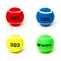 WISH TRAINING 303 TENNIS BALLS - 1 DOZEN - MULTIPLE COLOURS AVAILABLE