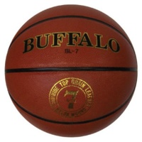 BUFFALO SPORTS GENUINE LEATHER BASKETBALL - SIZE 6 (BASK083)