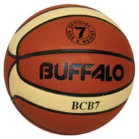 BUFFALO SPORTS BCB COMPOSITE LEATHER BASKETBALL - SIZE 5 / 6 / 7
