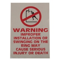 BUFFALO SPORTS DO NOT HANG BASKETBALL RING STICKER (BASK038)