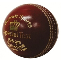 BUFFALO SPORTS SPECIAL TEST CRICKET BALL - 156G - RED / WHITE / PINK COLOURS