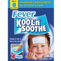 KOOL 'N' SOOTHE FEVER RELIEF GEL SHEETS - 4 PACK (FIRST106)