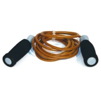 BUFFALO SPORTS LEATHER SKIPPING ROPE - 2.8M - GRIPY HANDLES (FUN069)