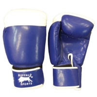 BUFFALO SPORTS DELUXE COMPETITION GLOVES - RED / BLUE - MULTIPLE SIZES (BOX073)