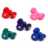 BUFFALO SPORTS PLASTIC COATED DUMBELLS - MULTIPLE WEIGHTS