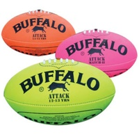 BUFFALO SPORTS ALL WEATHER FLURO SYNTHETIC AFL FOOTBALL - MULTIPLE SIZES