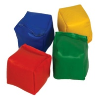 BUFFALO SPORTS PVC CUBE BEANBAGS - MULTIPLE COLOURS