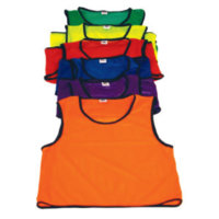 BUFFALO SPORTS ATHLETIC MESH VEST BIBS - PACKS OF 10 - MULTIPLE SIZES