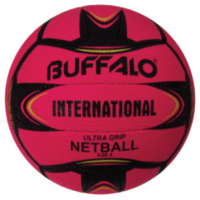 BUFFALO SPORTS INTERNATIONAL ULTRA GRIP NETBALL - SIZE 5 - MULTIPLE COLOURS