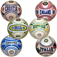 BUFFALO SPORTS LAMINATED COUNTRY DESIGN SOCCER BALL - SIZE 5 - MULTIPLE COUNTRYS