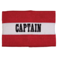 BUFFALO SPORTS CAPTAINS ARM BAND - RED / WHITE (SOC050)