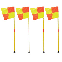 BUFFALO SPORTS CORNER FLAG TWO PIECE - PACK OF 4 - SOCCER CORNER FLAGS (SOC075)