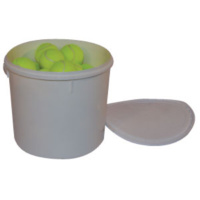 BUFFALO SPORTS TENNIS BALLS WITH HEAVY DUTY PLASTIC BUCKET - 3 DOZEN (TENN103)