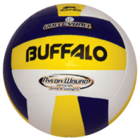 BUFFALO SPORTS RUBBER VOLLEYBALL - WHITE OR BLUE/WHITE/YELLOW (VOLL013)
