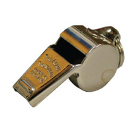 ACME MEDIUM THUNDERER WHISTLE W/ RING 59.5 - SOLID BRASS PEA WHISTLE (WHI011)