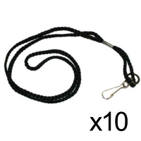 BUFFALO SPORTS LANYARD - PACK OF 10 - NECK STRAP / ID HOLDER / PHONE (WHI007x10)
