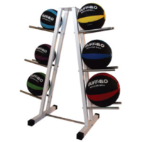 BUFFALO SPORTS MEDICINE BALL STORAGE RACK - POWDER COATED STEEL (EXE076)