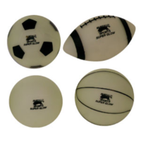BUFFALO SPORTS GLOW IN THE DARK BALLS - 150MM - MULTIPLE TYPES OF BALL (PLAY043)