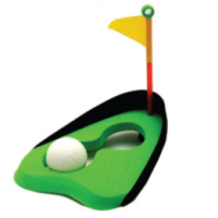 BUFFALO SPORTS RUBBER FOAM GOLF HOLE - PRACTICE YOUR SKILLS (GOLF048)