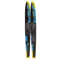 "TEST PILOT ADULT COMBO WATER SKIS - ADJUSTABLE BINDINGS - 67"" LENGTH"