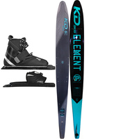 KD SKIS PLATINUM GRAPHITE SLALOM WATER SKI & VISE BINDING - WISHBONE DECK