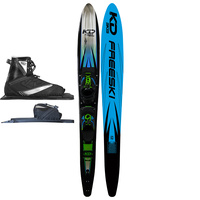 KD SKIS POWERCARVE SLALOM WATER SKI & AXCESS BINDING - PBT TOP SHEET