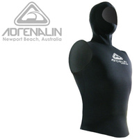 ADRENALIN HOODED VEST 2MM MENS WETSUIT - UNDERGARMENT FOR COLD WATER DIVING