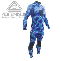 ADRENALIN CAMO STEALTH BLUE STEAMER 2MM MENS WETSUIT - FLAT LOCK STITCHING