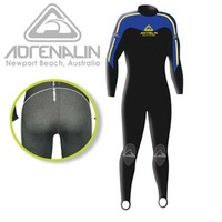 ADRENALIN HARDASS STEAMER 1MM MENS WETSUIT - HARD WEARING REAR PANEL