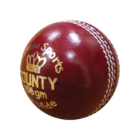 BUFFALO SPORTS COUNTY CRICKET BALL - RED - 156GM - 2 PIECE LEATHER (CRICK392)
