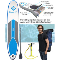REDBACK VENTURER ADULT 12 FOOT INFLATABLE STAND UP PADDLE BOARD + ACCESSORIES