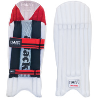 HART ATTACK CRICKET WICKET KEEPING PADS - CANE AND KAPOK CONSTRUCTION