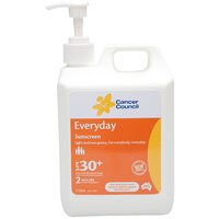 CANCER COUNCIL EVERYDAY SPF 30+ SUNSCREEN - 2 HOURS WATER RESISTANT 1L (12-299)
