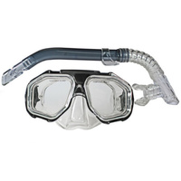 LAND & SEA DUNK ISLAND SILITEX MASK & SNORKEL SET - FEATURES SUPERB VISION