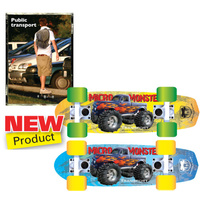 "ADRENALIN MICRO MONSTER 17"" PLASTIC DECK CRUISER - LIGHT WEIGHT & COMPACT"