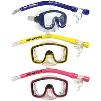 LAND & SEA LAGOON SILITEX MASK AND SNORKEL SET - SMALL TO MEDIUM FIT