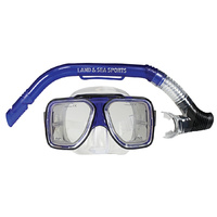 LAND & SEA MALDIVE SILICONE MASK & SNORKEL SET - DESIGNED TO FIT WIDER FACES