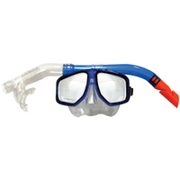 LAND & SEA ATOLL SILITEX MASK & SNORKEL SET - FEATURES LARGE BORE PURGE