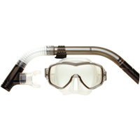 LAND & SEA ARISTOCRAT CLEAR SINGLE LENS MASK & SNORKEL SET - SUPERB FIT