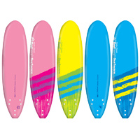 "REDBACK KIDS & TEENS CLASSIC MALIBU MINI SURFBOARD 6' 2"" - UP TO 65KG"