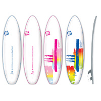 REDBACK REVOLUTION 6' QUICK STICK SURF BOARD - 4 DESIGNS AVAILABLE