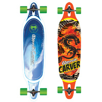 "ADRENALIN CARVER DROP THRU 38"" SKATEBOARD - 2 x GREAT DESIGNS AVAILABLE"