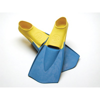 LAND & SEA THRUSTER RUBBER FINS - BLUE/YELLOW - 100% RUBBER FINS