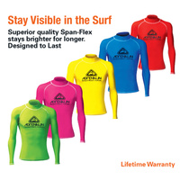 LAND & SEA JUNIOR HIGH VISABILITY LONG SLEEVE RASH VEST