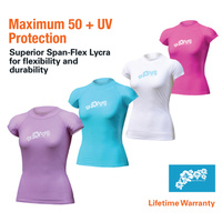 LAND & SEA LADIES CAP SLEEVE RASH VEST - MAXIMUM UPF50+ PROTECTION