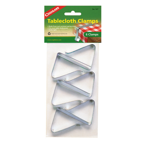 COGHLANS TABLECLOTH CLAMPS - PACK OF 6 - RUST RESISTANT (COG 527)