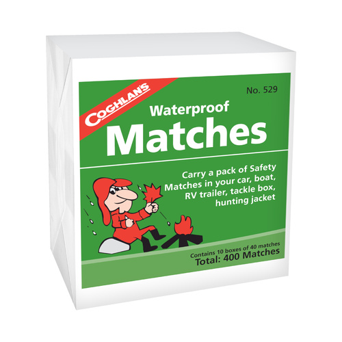 COGHLANS WATERPROOF MATCHES - 400 MATCHES - IDEAL FOR THE OUTDOORS (COG 529)