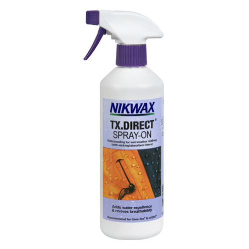 NIKWAX TX.DIRECT SPRAY-ON WATER PROOFING FOR WET WEATHER CLOTHING