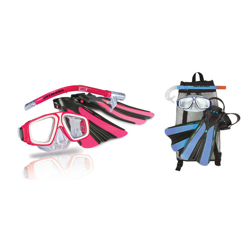 LAND AND SEA CHILDRENS PLATYPUS SNORKEL BAG SET - AVAILABLE IN BLUE OR PINK